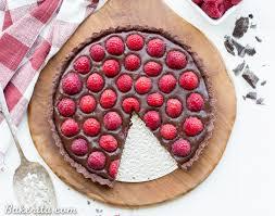 chocolate raspberry dessert no bake raspberry chocolate tart gluten free paleo vegan