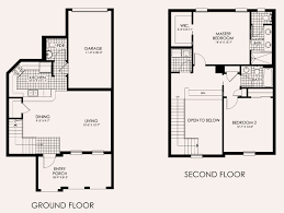 two bedroom townhouse floor plan paseo in ft myers new homes and condos