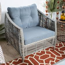 Deep Seating Wicker Patio Furniture - belham living kambree all weather wicker deep seating chair with