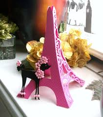 eiffel tower table centerpieces 3d eiffel tower table centerpiece cake topper bright pink