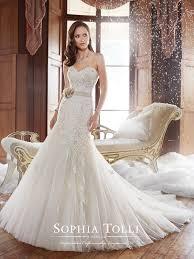 strapless lace wedding dress sophia tolli y21246