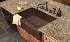 granite countertop corner kitchen sink units tuscan bronze
