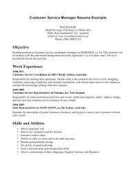 customer service manager resume 20 sample resume for food service