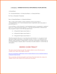 7 termination notices sample notice letter