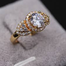 womens ring size cut iced out ring yellow gold filled wedding womens ring