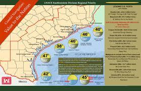 Colorado River Texas Map Galveston District U003e Missions U003e Texas Coast Value To The Nation