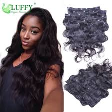 Brazilian Extensions Hair by Body Wave 100gram Virgin Human Clip In Extensions Brazilian Virgin