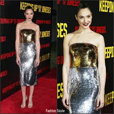 keeping up with the joneses gal gadot in dolce and gabbana at