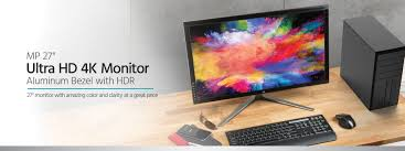 27in 4k 3840x2160 activehdr amd freesync desktop monitor with