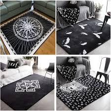 tapis de sol chambre mode blanc noir soleil léopard salon chambre décoratif tapis tapis