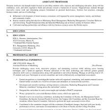 Professor Resume Objective Cover Letter Assistant Professor Resume Assistant Professor Resume