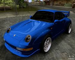 rwb porsche blue porsche 911 gt2 rwb dubai sig edtn 1995 for gta san andreas