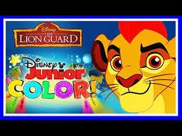 disney junior color lion guard coloring book game