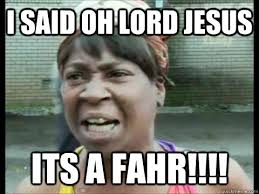 Oh Sweet Jesus Meme - i said oh lord jesus its a fahr sweet brown ain t nobody got