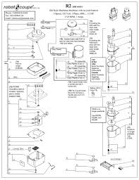 robot coupe r2 old style diagram and parts list