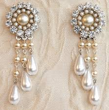 and pearl chandelier earrings bridal chandelier earrings rhinestone silver swarovski