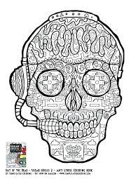 printable coloring pages sugar skulls sugar skull printable babysplendor com