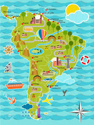 Map Of Southern Spain Cartoon Map Of South America Royalty Free Cliparts Vectors And