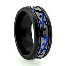 black titanium rings titanium rings anodized black titanium band r562b emr110
