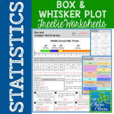 box and whisker plot freebie by the clever clover tpt