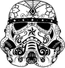 marvelous day of the dead skull coloring pages printable image