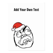 Le Me Memes - christmas le me memes troll mad custom editable postcard