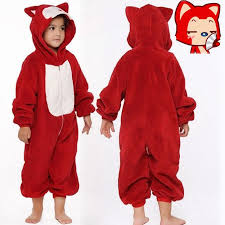 2017 red fox kids animal pajamas fancy dress costume boys u0026amp