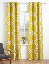Yellow Brown Curtains These Next Curtains Would Go Great With The Geometric Pattern In