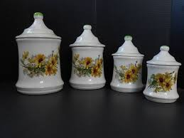 sunflower kitchen canisters 96 best canisters images on canister sets kitchen