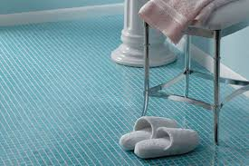 Blue Glass Tile Bathroom - glass tile and ceramic tile bathroom flooring unlimited designs
