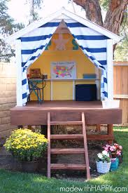made with happy treehouse playhouse kids outdoor play area www