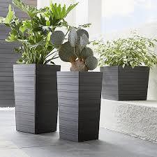 tidore square plastic planters crate and barrel