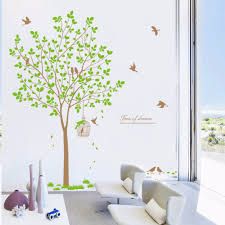 online get cheap birds and trees wall stickers aliexpress com new arrival bird tree wall stickers high quality living room bedroom tv background creative wall stickers
