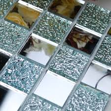 Mirror Tiles Backsplash wholesale mirror tile squares blue bathroom mirrored wall tile