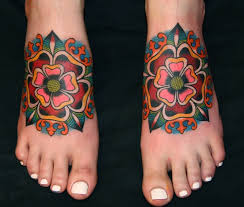 Flower Tattoo Designs On Feet - old flower tattoo designs google search tattoo