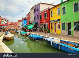 Burano Italy Burano Italy June 22 Colorful Houses Stock Photo 532932343
