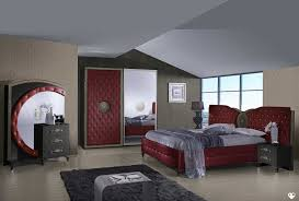 ameublement chambre tana bordeaux et noir composition ensemble meuble chambre a