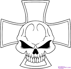 cool skull drawings draw coloring pages clip art library