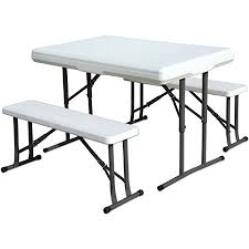 Folding Picnic Table To Bench Stansport Folding Picnic Table With Bench White By Office Depot