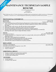 Hvac Sample Resumes by 28 Sample Maintenance Technician Resume Sample Resume Hvac