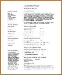 Academic Resume Template For College Sample Academic Resume Student Resume College Application And