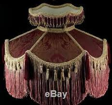 victorian l shades with beaded victorian vintage style fringed floor l shade burgundy damask