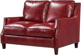 Red Loveseat Georgetowne Oakridge Red Leather Living Room Set From Luxe Leather