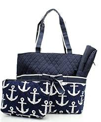 nautical bags quilted navy and white nautical anchor theme print