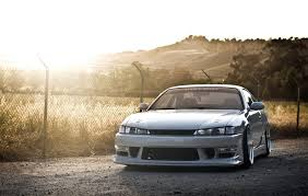 silver nissan car wallpapers silver nissan silvia s14 jdm stance works walls