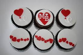 baked by design heart engagement cupcakes