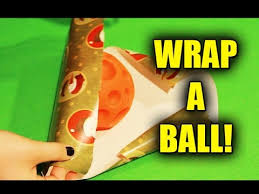soccer wrapping paper how to wrap a object gift tutorial christmas birthdays