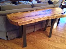 Tall Coffee Table by Behind The Couch Mulberry Log Table With Custom Tall Metal Legs