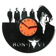 amazon com bon jovi vinyl clocks decorative clock unique wall