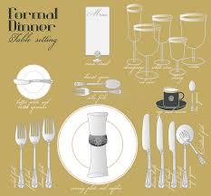 formal dinner table setting formal dinner table setting stock vector illustration of course